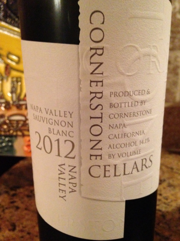 Cornerstone Cellars Napa Valley Sauvignon Blanc 2012