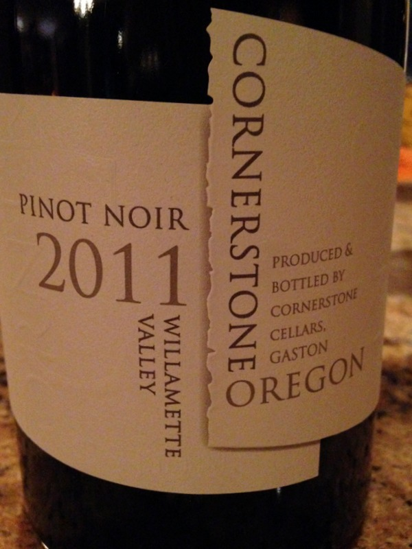Cornerstone Oregon Pinot Noir 2011