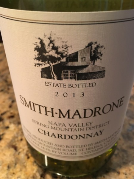 pizza night - Smith Madrone Chardonnay