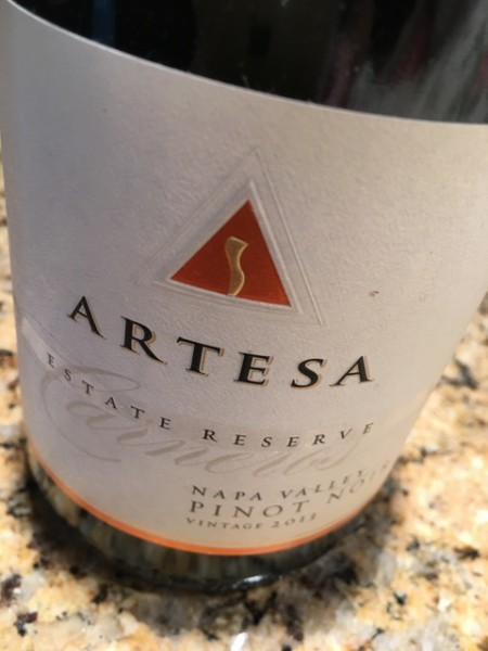 pizza night - Artesa Pinot Noir
