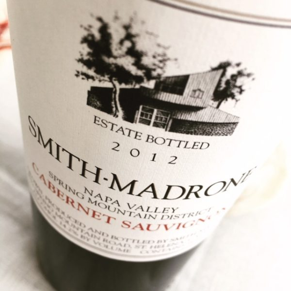 elegant wines - smith madrone cabernet