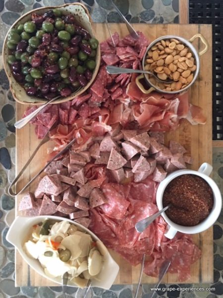 charcuterie and rose